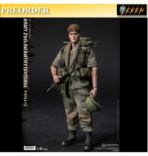 PREORDER: Dam Toys: 1/12 Army 25th Infantry Division Private PES004
