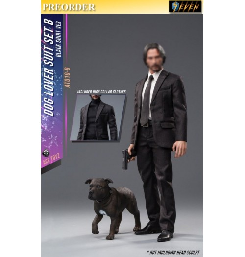 PREORDER: ACE TOYZ 1/6 Dog Lover Suit set (Black Shirt version with Dog): Boxset