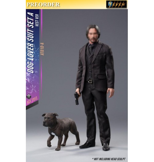 PREORDER: ACE TOYZ 1/6 Dog Lover Suit set (Vest version with Dog): Boxset