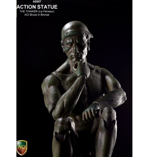 ACI TOYS Action Statue The Thinker ( Le Penseur ) Bronze