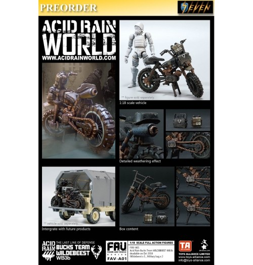 PREORDER: Toys Alliance x Acid Rain World: Bucks Team Wildebeest WB3b