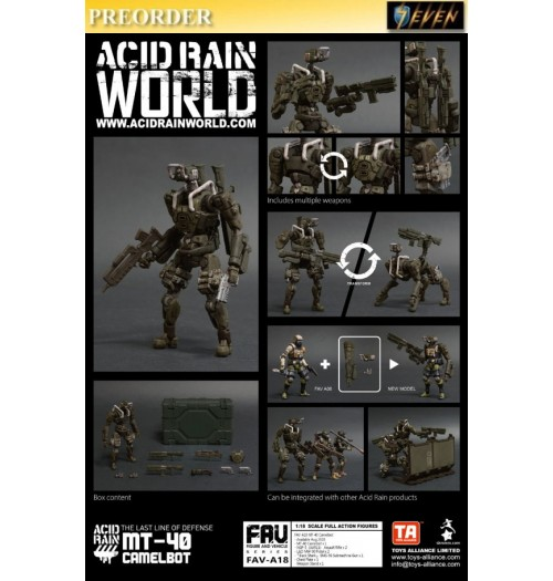 PREORDER: Toys Alliance Acid Rain 1/18 FAV-A18 MT40 Camelbot: Set