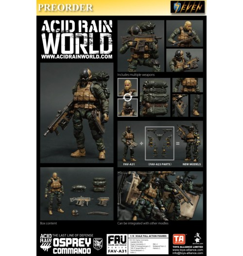 PREORDER: Toys Alliance Acid Rain 1/18 FAV-A31 Osprey Commando: Set