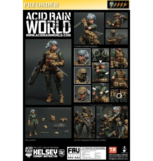 PREORDER: Toys Alliance Acid Rain 1/18 FAV-A32 Kelsey - Combat instructor: Set