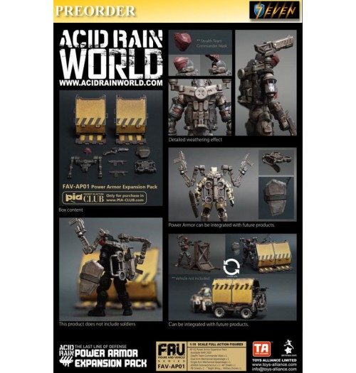 PREORDER: Toys Alliance Acid Rain 1/18 FAV-AP01 Power Armor Expansion Pack: Set