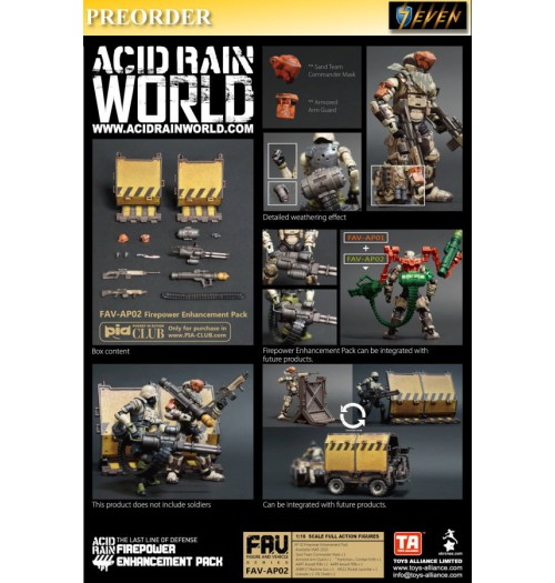 PREORDER: Toys Alliance Acid Rain 1/18 FAV-AP02 Firepower Enhancement Pack: Set