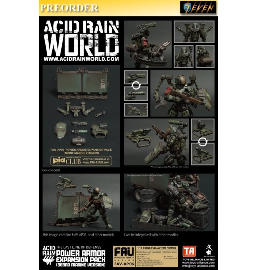 PREORDER: Toys Alliance Acid Rain 1/18 FAV-AP06 Power Armor Expansion Pack: Boxset
