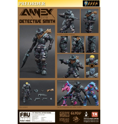 PREORDER: Toys Alliance Acid Rain 1/18 FAV-H03 Detective Smith: Boxset