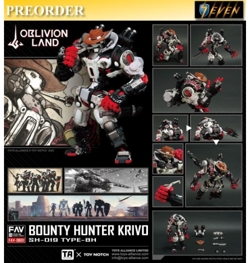 PREORDER: Toys Alliance 1/18 FAV-OB01 Oblivion Land Bounty Hunter Krivo: Boxset