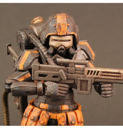 "ORI TOY 3.75"" Acid Rain: Flame Trooper ( Omanga Military)"