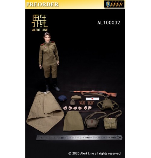 PREORDER: Alert Line 1/6 AL100032 WWII Female medical soldier: Boxset