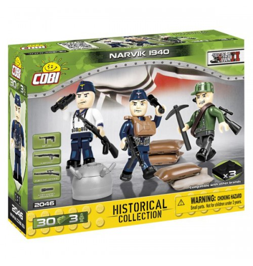 Cobi: WWII Historical Collection 2046 German 1st Infantry 3 Figures (30pcs)