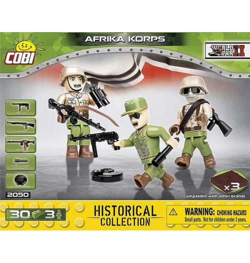 Cobi: WWII Historical Collection 2050 Africa Korps 3 Figures (30pcs)