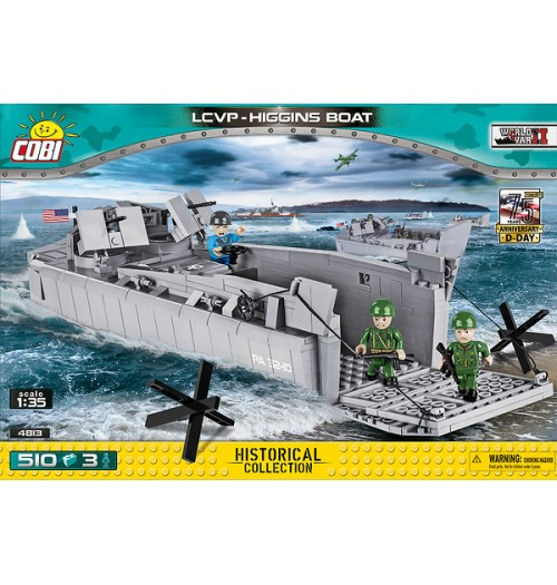 Cobi: Small Army 4813 WS LCVP HIGGINS Boat (510pcs)