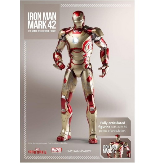 Play Imaginative 1/4 Iron Man Mark XLII  Diecast