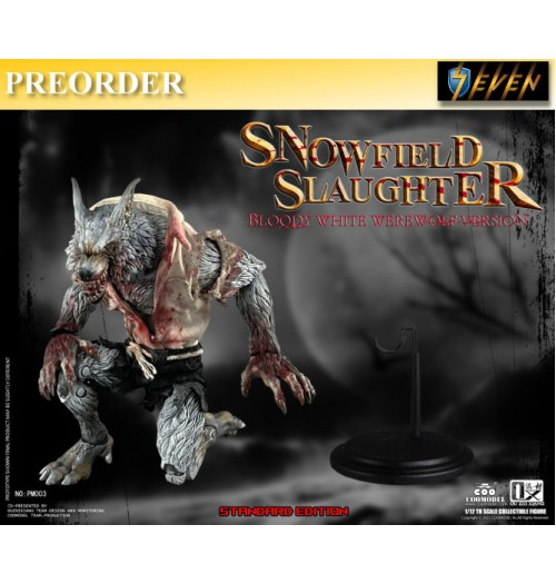 PREORDER: COO Model x OuXhiZhiang 1/12 PM003 Palmtop Monsters - Snowfield Slaughter (Bloody White Werewolf): Standard Boxset