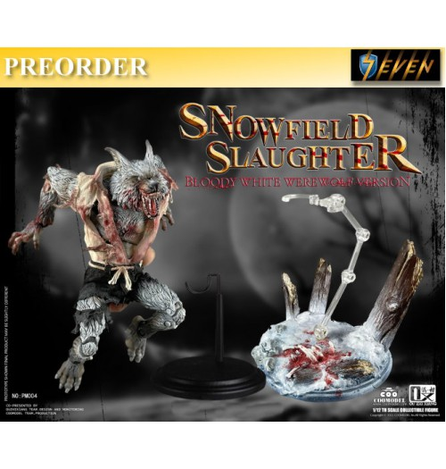 PREORDER: COO Model x OuXhiZhiang 1/12 PM004 Palmtop Monsters - Snowfield Slaughter (Bloody White Werewolf): Deluxe Boxset