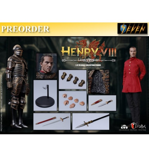 PREORDER: Coo Model 1/6 Henry VIII (Lion Version): Boxset