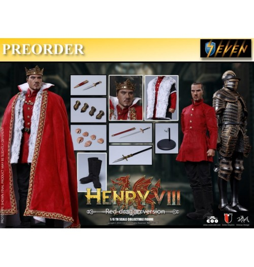 PREORDER: Coo Model 1/6 Henry VIII (Red Dragon Version): Boxset