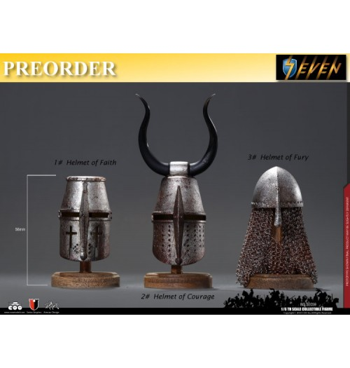 PREORDER: Coo Model 1/6 SE059 Series Of Empires - Diecast Jihad Helmets(Three Helmets Suit): Set