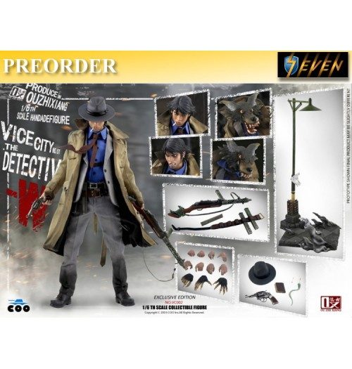 PREORDER: COO Model x OuXhiZhiang 1/6 VC001 Vice City - The Detective W: Exclusive Boxset