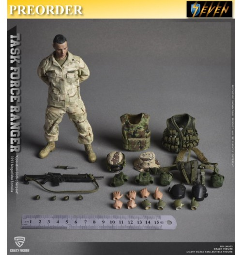 PREORDER: Crazy Figure 1/12 US Military 75th Rangers Regiment - Grenadier: Boxset