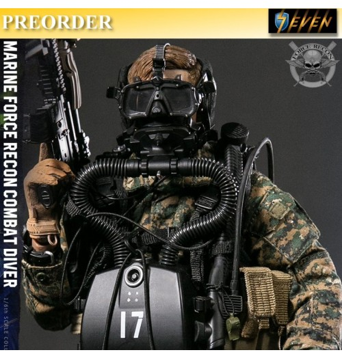 PREORDER: DAM Toys 1/6 Marine Force Recon Combat Diver (Woodland Marpat Version)