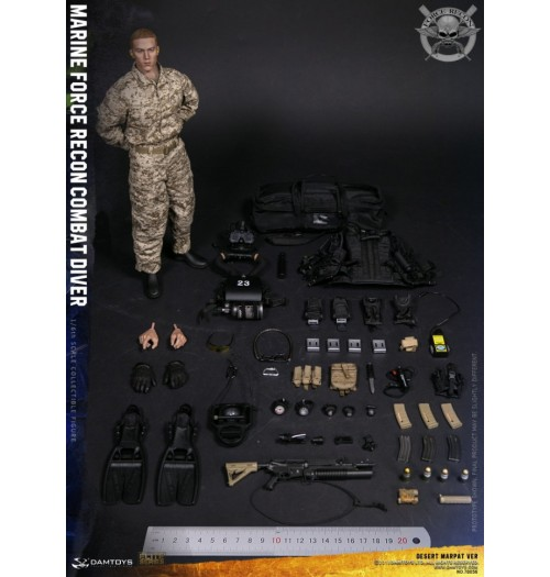 DAM Toys: 1/6 Marine Force Recon Combat Diver Desert Marpat Version
