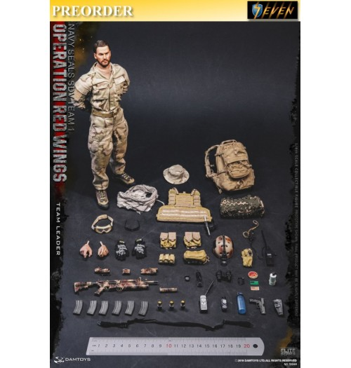 PREORDER: DAM Toys 1/6 Operation Red Wings - NAVY SEALS SDV TEAM 1 Team Leader: Boxset