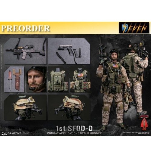 PREORDER: DAM Toys 1/6 78074 1st SFOD-D  Combat Applications Group Gunner: Boxset