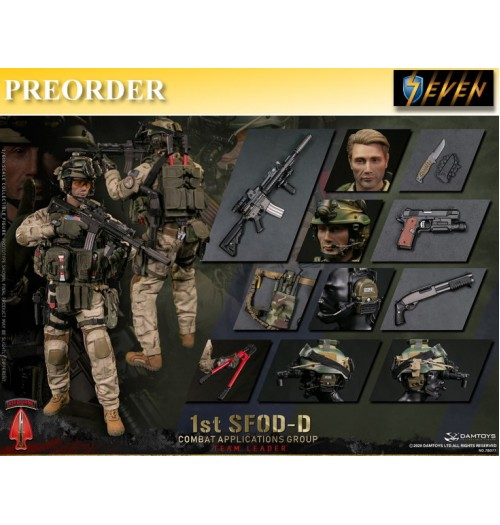 PREORDER: DAM Toys 1/6 78077 1st SFOD-D Combat Applications Group- Team Leader: Boxset