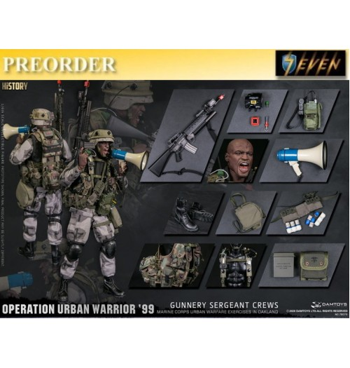 "PREORDER: DAM Toys 1/6 78080 Operation Urban Warrior '99 - Marine Corps urban warfare exercises in Oakland ""Gunnery sergeant Crews: Boxset"