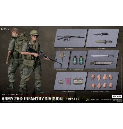Dam Toys 1/12 Army 25th Infantry Division Private