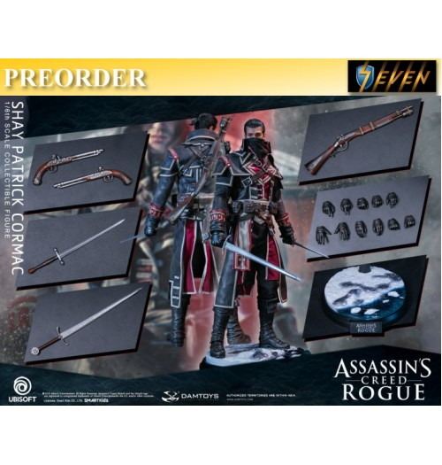 PREORDER: DAM Toys 1/6 Assassin's Creed Rogue - Shay Patrick Cormac: Boxset