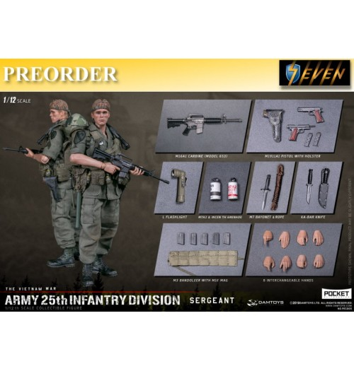 PREORDER: DAM Toys 1/12 Army 25th Infantry Division Private Sergeant: Boxset