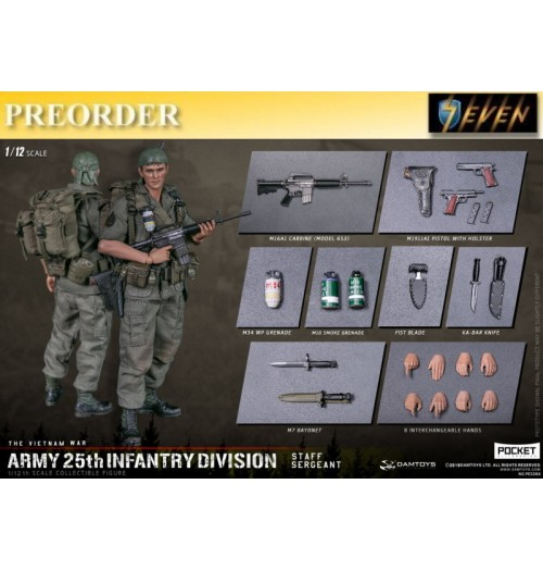 PREORDER: DAM Toys 1/12 Pocket Elite S: Army 25th Infantry Division- Staff Sergeant: Boxset