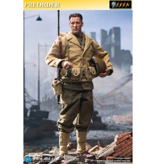 Out of stock DID 1/6 WWII US 2nd Ranger Battalion S2 - Private Reiben: Boxset