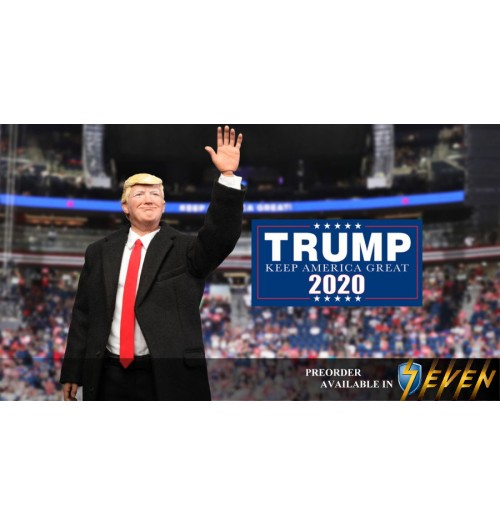 DID 1/6 AP003 Donald Trump 2020: Boxset (Cardborad podium, desk and chair are loose!)
