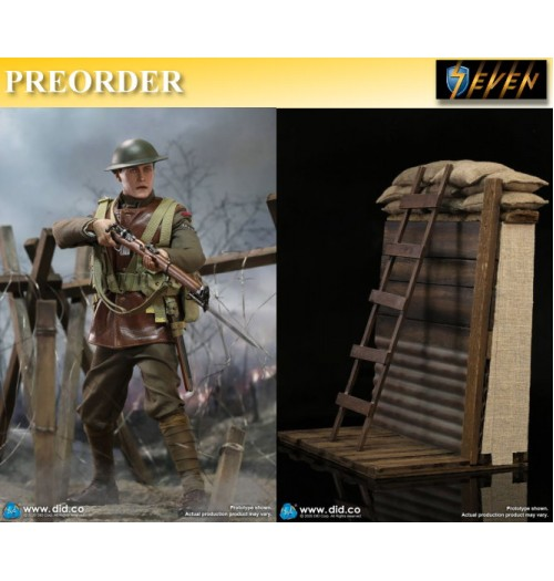 PREORDER: DID 1/6 B11011 WWI British Infantry Lance Corporal - William+Diorama: Set