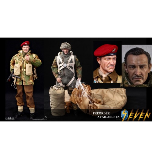 PREORDER: DID 1/6 K80135 British 1st Airborne Division (Red Devils) Commander Roy: Boxset