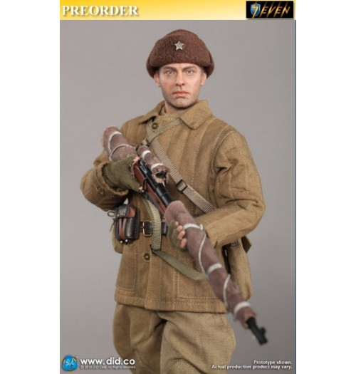 PREORDER: DID 1/6 R80139 Battle Of Stalingrad 1942 Vasily Grigoryevich Zaytsev: 10th Anniversary: Clean Ver. Boxset