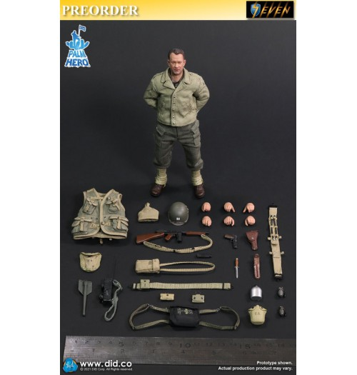 PREORDER: DID 1/12 Palm Hero WWII US 2nd Ranger Battalion Series 1 Captain Miller: Boxset
