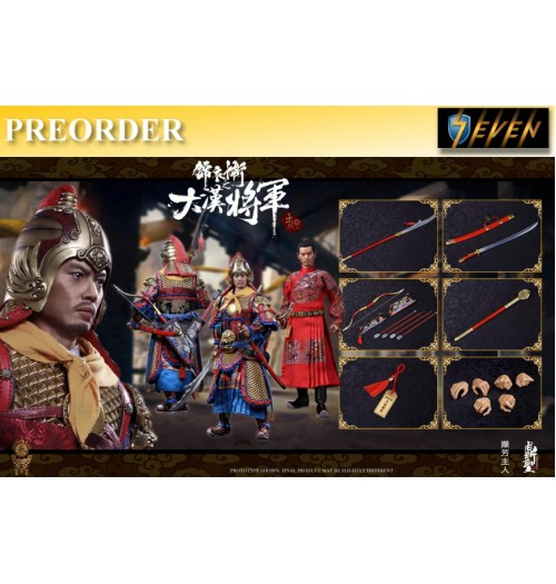 PREORDER: DINGSHENG TOYS 1/6 DS003 Imperial guards of the Ming Dynasty (Handmade pure copper armor) A Chujing Ver Golden Armor: Boxset