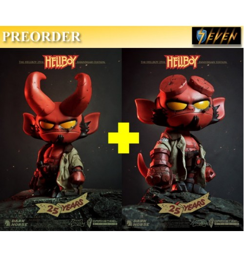 PREORDER: DarkSteel Toys DSC-004 Hellyboy Vinly Figure: Full Set
