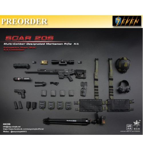 PREORDER: Easy&Simple 1/6 06025 SCAR 20S Multi Caliber DMR Kit: Set B