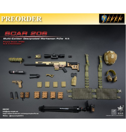 PREORDER: Easy&Simple 1/6 06025 SCAR 20S Multi Caliber DMR Kit: Set C