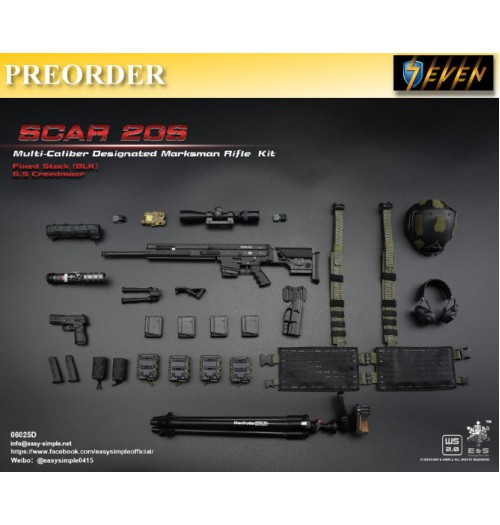PREORDER: Easy&Simple 1/6 06025 SCAR 20S Multi Caliber DMR Kit: Set D