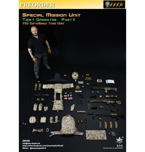 PREORDER: Easy&Simple 1/6 26030B Special Mission Unit Part X - PSD Surveillance Team Chief: Boxset