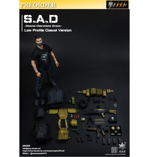 PREORDER: Easy&Simple 1/6 26038R S.A.D Special Operation Group Casual Version: Boxset