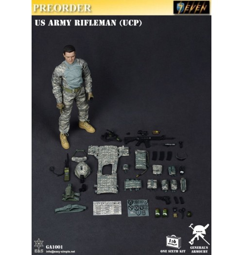 PREORDER: Easy&Simple 1/6 US Army Rifleman (UCP): Boxset